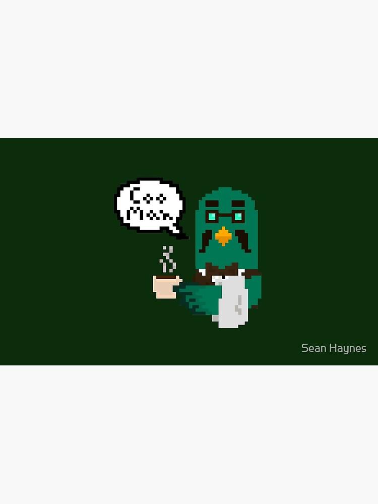 """Coo Man"" Brewster pixel art (Animal Crossing) by sarahhaynes"