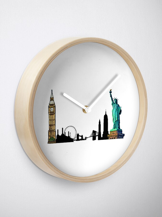 Alternate view of London & New York City Clock