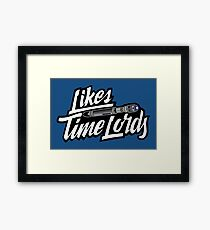 Likes Time Lords Framed Print