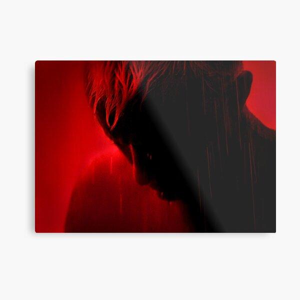 Tears in Red Metal Print