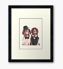 @ifitwags (The pointer brothers) Framed Print