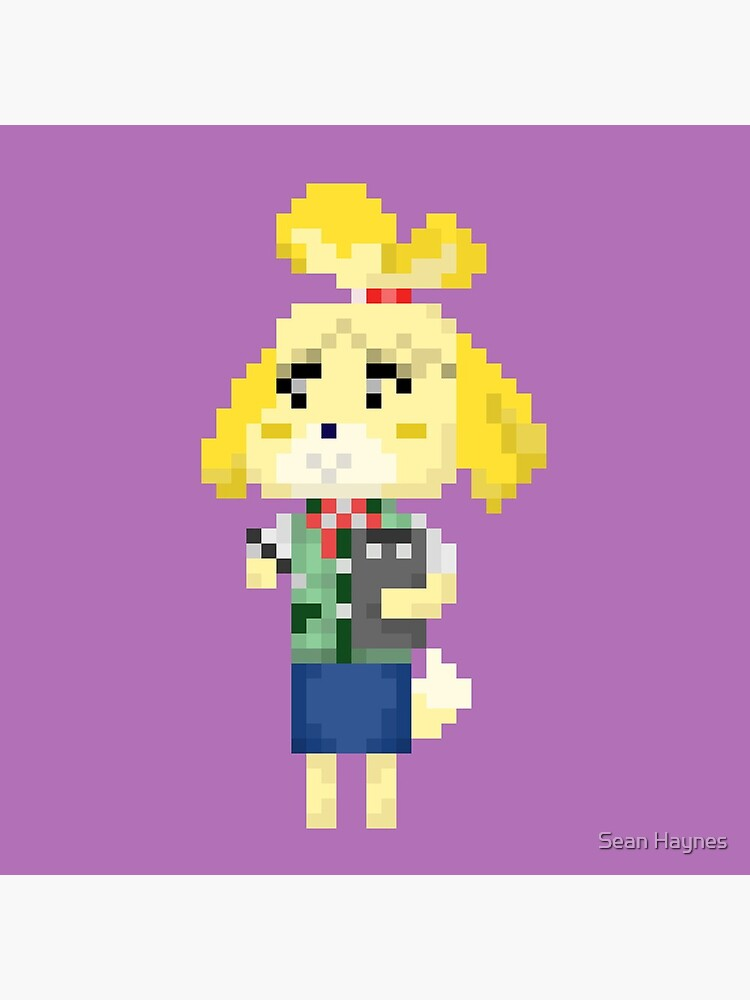 Pixel Isabelle Animal Crossing New Leaf Greeting Card