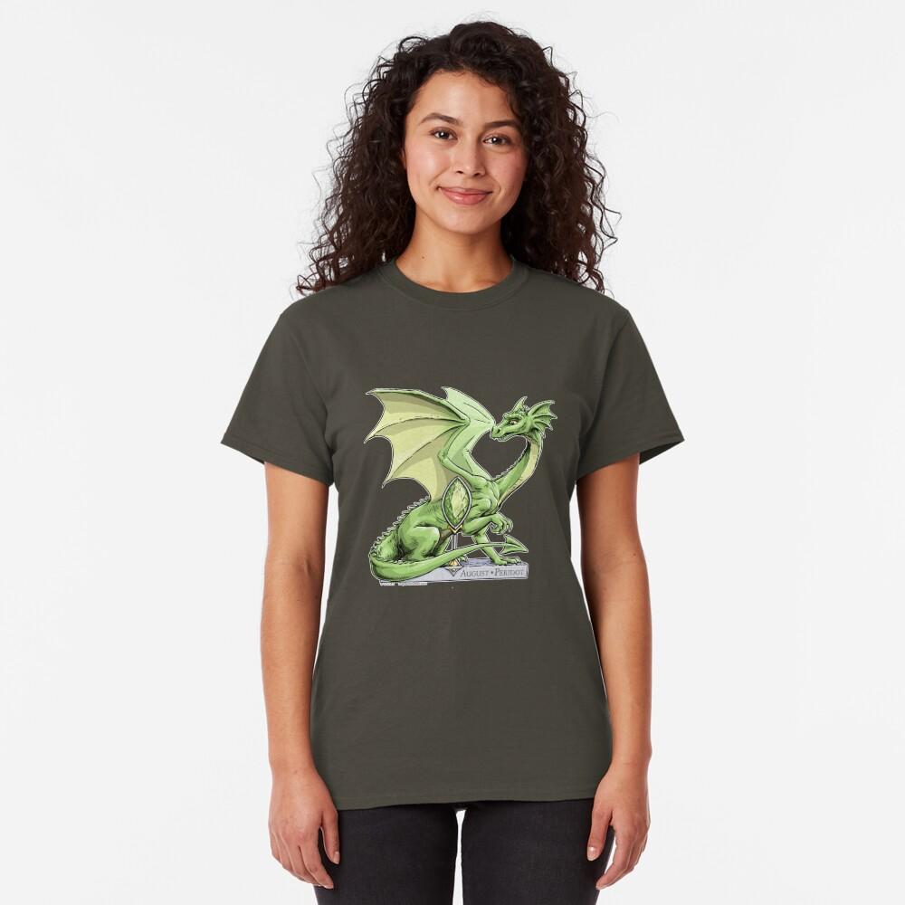 Birthstone Dragon: August Peridot Illustration Classic T-Shirt