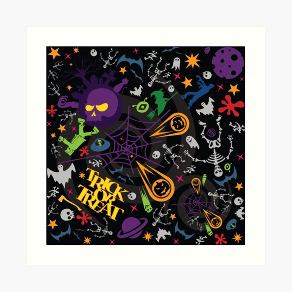 Space is the Place for Halloween Art Print