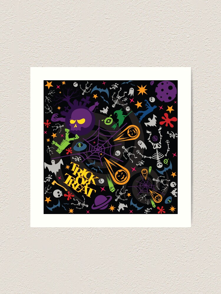 Alternate view of Space is the Place for Halloween Art Print