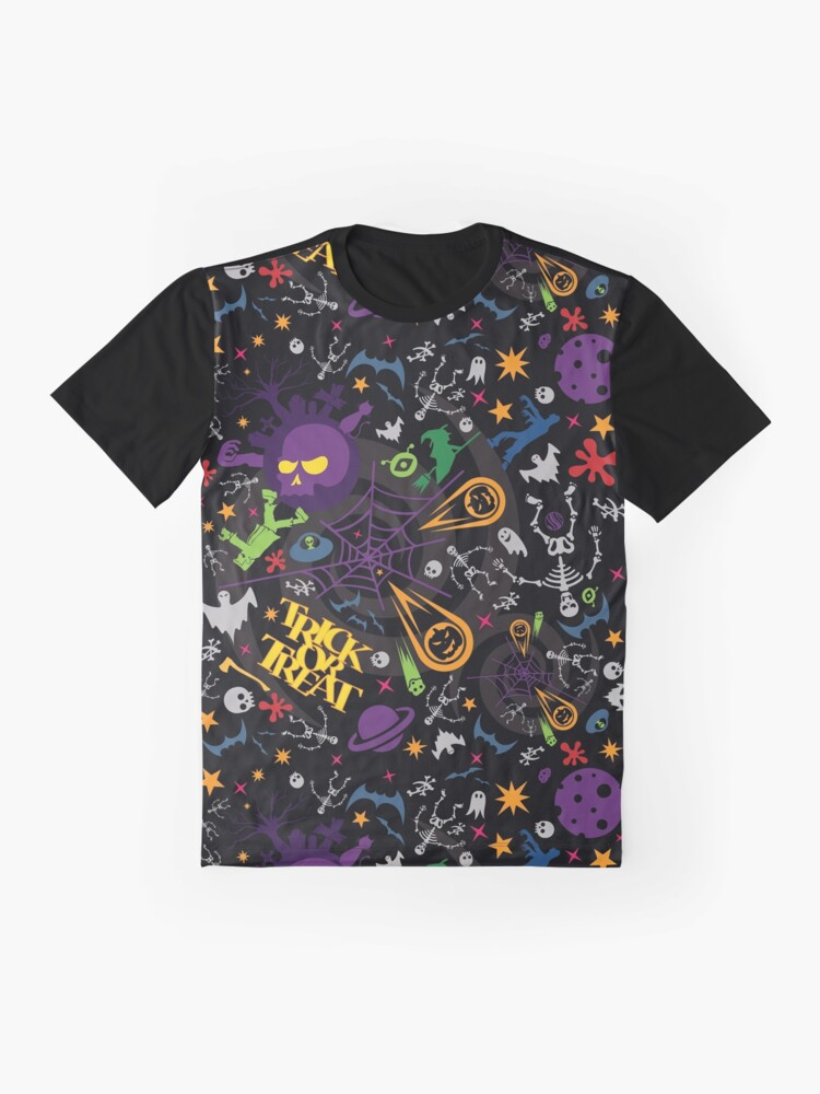 Alternate view of Space is the Place for Halloween Graphic T-Shirt