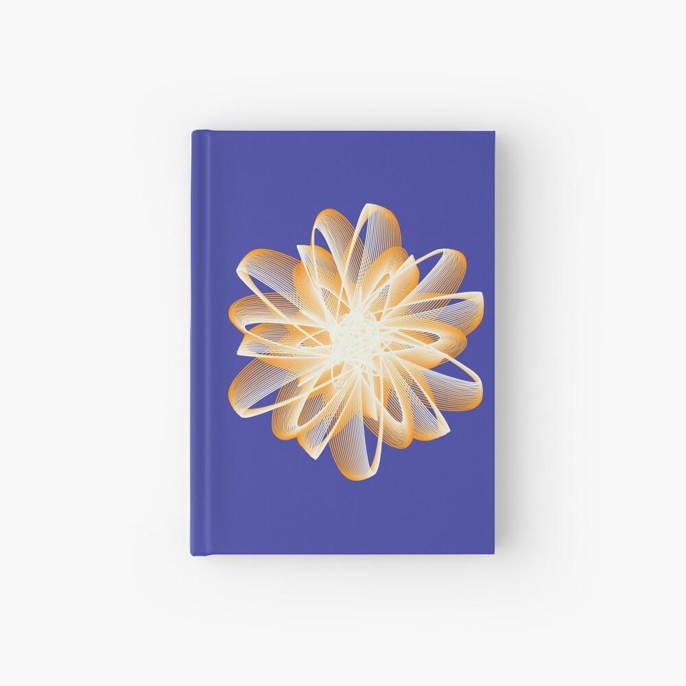 Abstract flower in orange Hardcover Journal