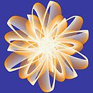 Abstract flower in orange by Shapes-Mania