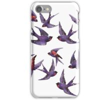 Winter swallows iPhone Case/Skin