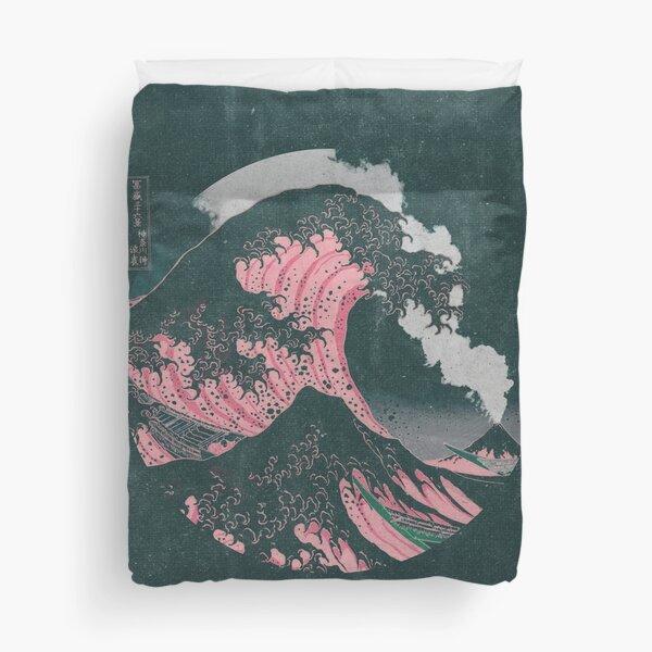 The Great Wave off Kanagawa Mount Fuji Eruption Duvet Cover
