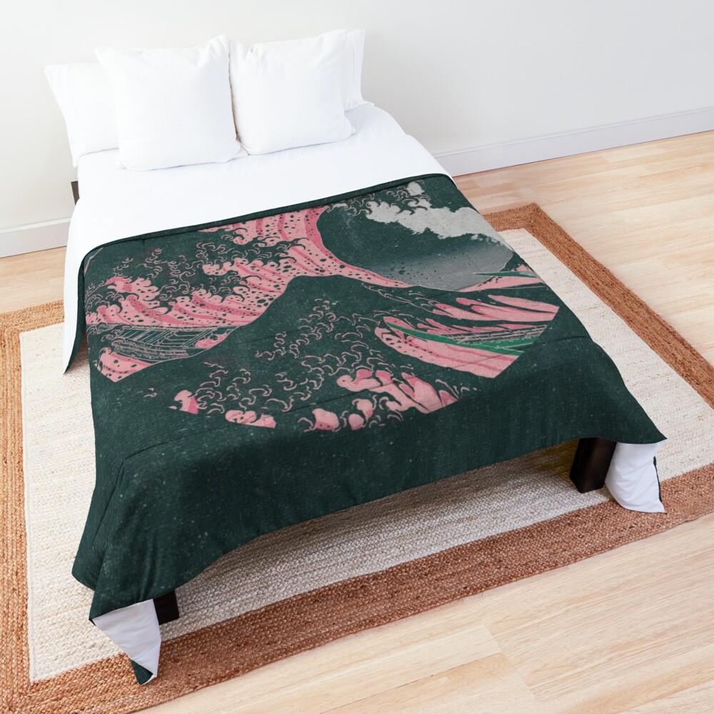 The Great Wave off Kanagawa Mount Fuji Eruption Comforter