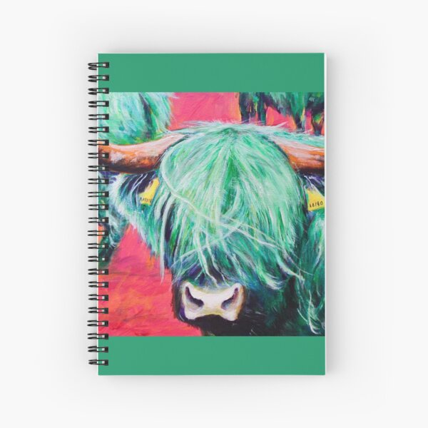 The Green Coo Spiral Notebook