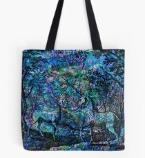 "Alchemical Secrets - ""The Stag And The Unicorn"" Tote Bag"
