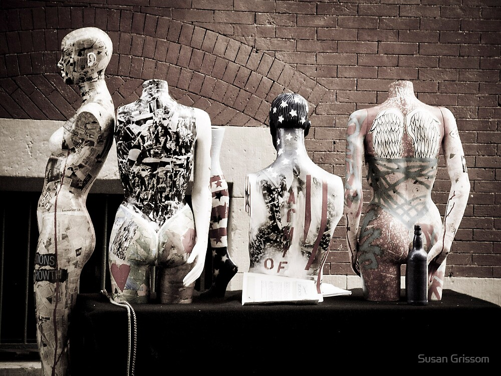 street theatre of the plastic world by Susan Grissom