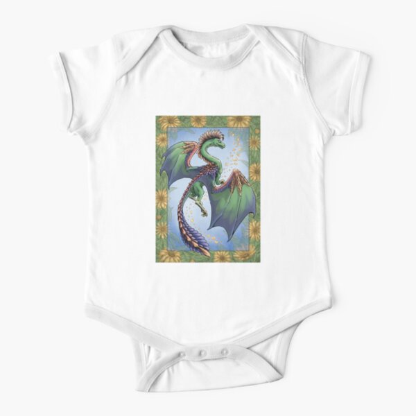 """""""The Dragon of Summer"""" Short Sleeve Baby One-Piece"""