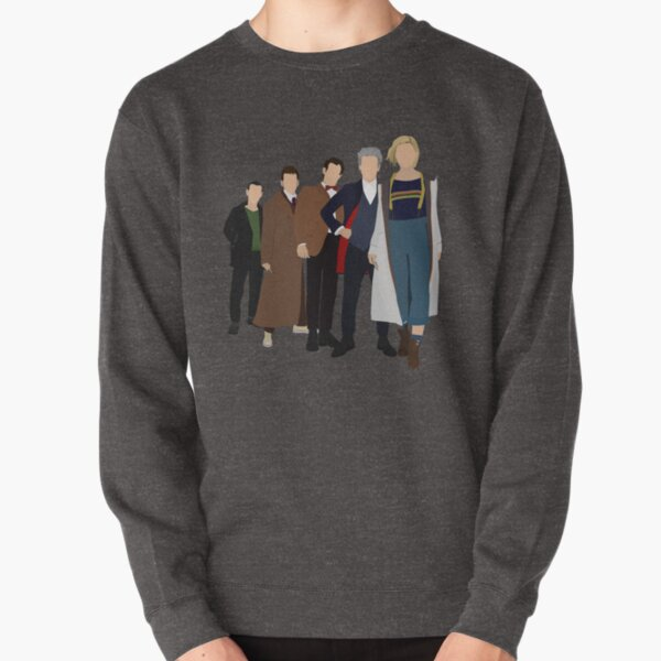 Doctor Who - All Five Modern Doctors (DW Inspired) - 9th, 10th, 11th, 12th and 13th Doctors Pullover Sweatshirt