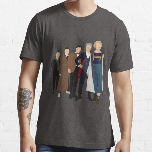 Doctor Who - All Five Modern Doctors (DW Inspired) - 9th, 10th, 11th, 12th and 13th Doctors Essential T-Shirt