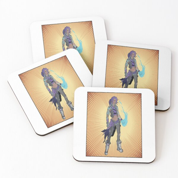 Amara The Siren Are You Enough? Borderlands 3 The Tiger of Partali Coasters (Set of 4)