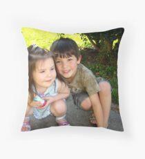 My Two Precious Grandchildren Throw Pillow
