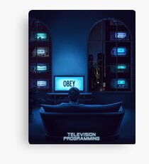 Television Programming Canvas Print