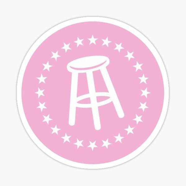 Barstool Pink Logo Sticker Sticker