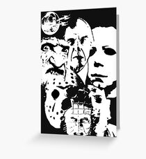 Horror Icons! Greeting Card