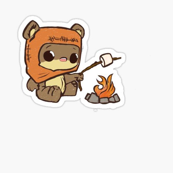 Teddy Bear by the Fire Sticker