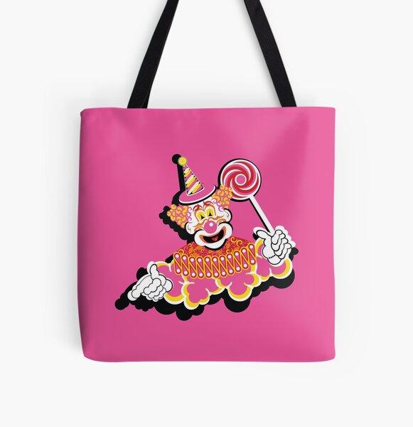 Retro Clown All Over Print Tote Bag