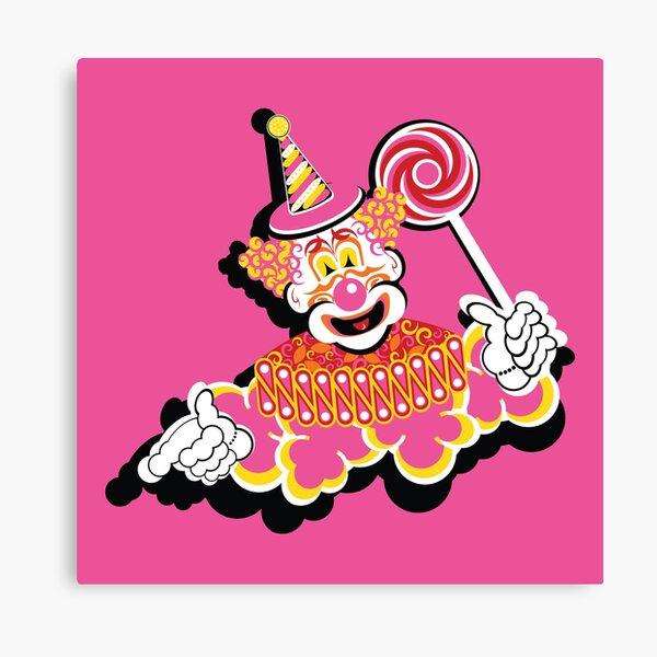 Retro Clown Canvas Print