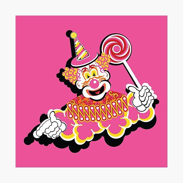 Retro Clown Photographic Print