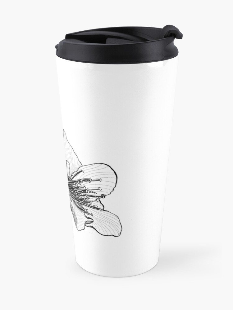 Alternate view of Almond Blossom Illustration Travel Mug