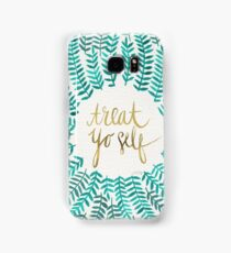 Treat Yo Self – Turquoise Samsung Galaxy Case/Skin