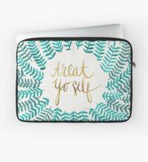 Treat Yo Self – Turquoise Laptop Sleeve