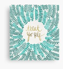 Treat Yo Self – Turquoise Canvas Print