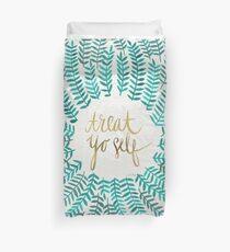 Treat Yo Self – Turquoise Duvet Cover