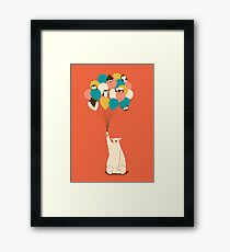 Penguin Bouquet Framed Print