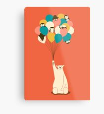 Penguin Bouquet Metal Print