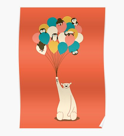 Penguin Bouquet Poster