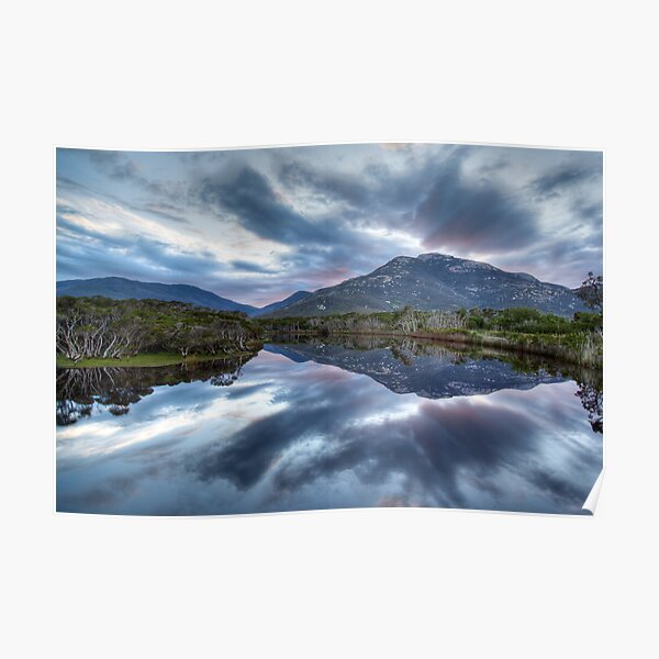 Tidal River Reflections Poster