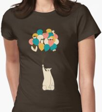 Penguin Bouquet Womens Fitted T-Shirt