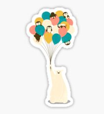 Penguin Bouquet Sticker