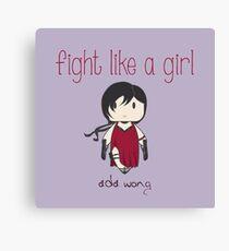 Fight Like a Girl - Zombie Killer Ninja Canvas Print