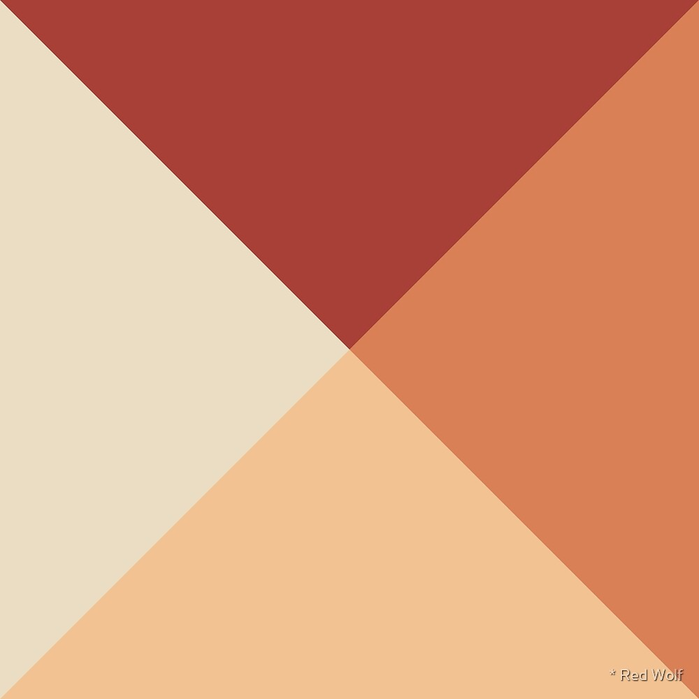 Geometric Pattern: Pyramid: Autumn by * Red Wolf