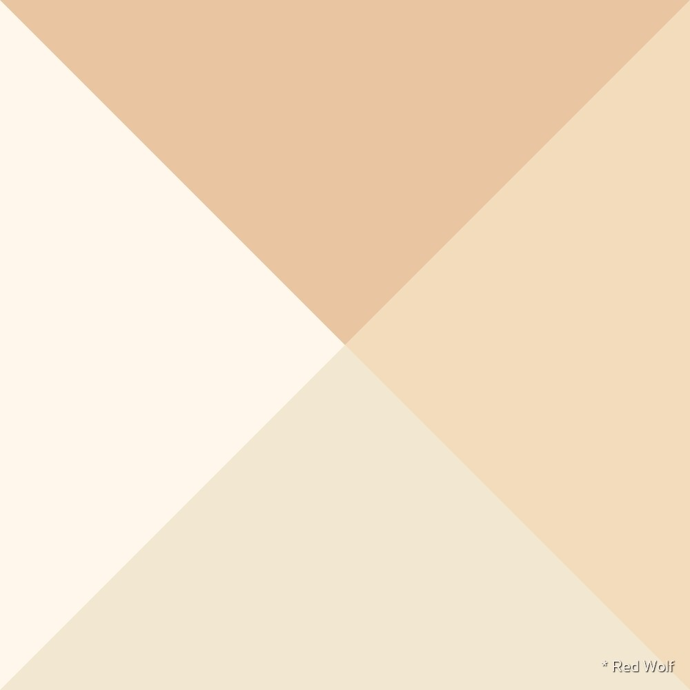 Geometric Pattern: Pyramid: Beach by * Red Wolf