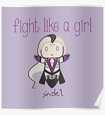 Fight Like a Girl - Mother Zombie Poster