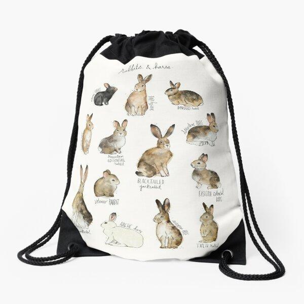 Rabbits & Hares Drawstring Bag
