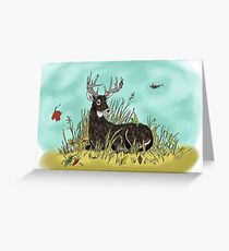 Whitetail Buck In Repose...Colored Greeting Card