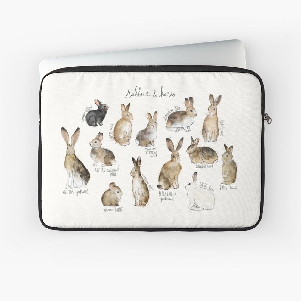 Kaninchen und Hasen Laptoptasche