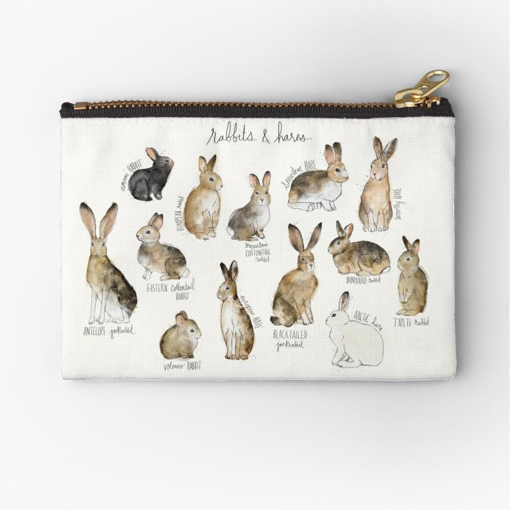 Rabbits & Hares Zipper Pouch