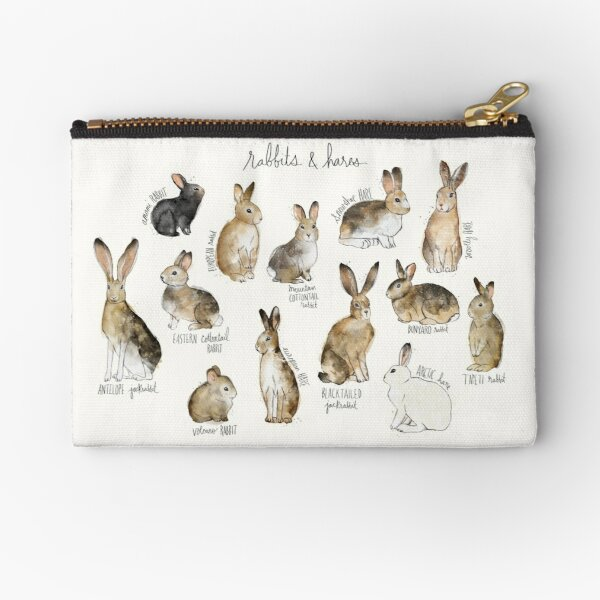 Rabbits & Hares Zipper Pouch